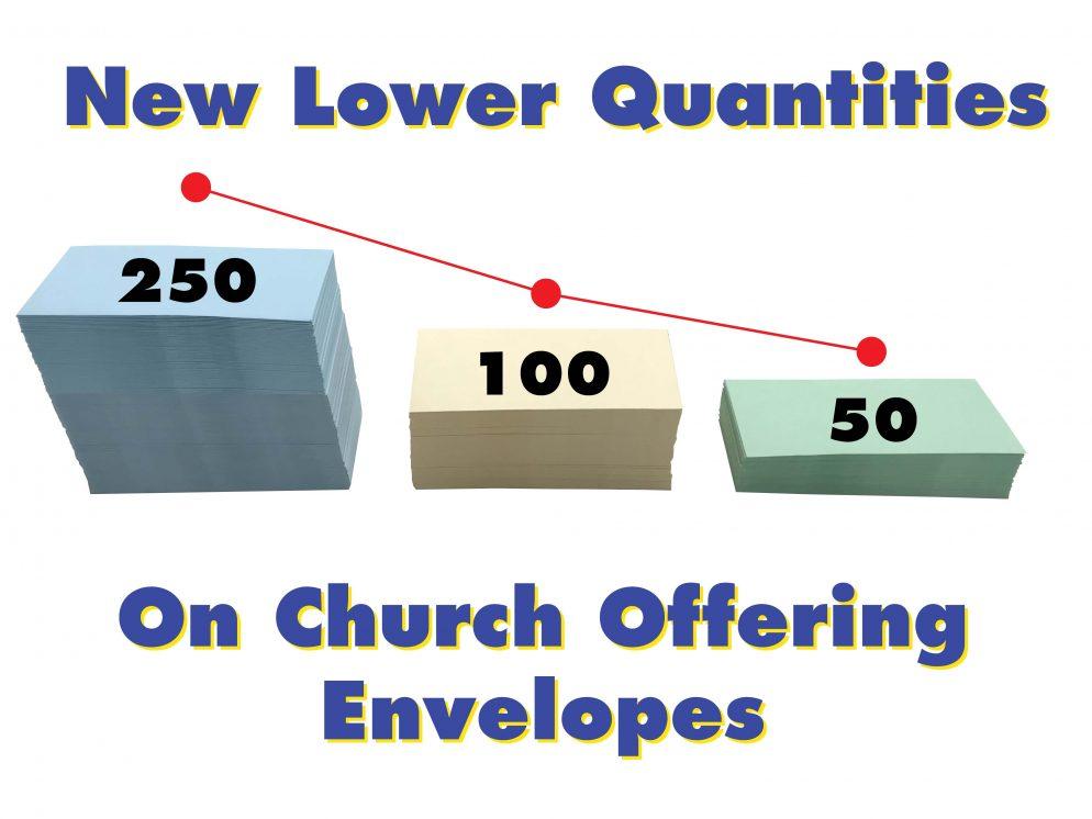 Small Quantity church envelopes