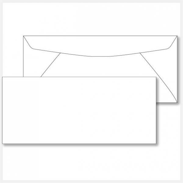 10 white regular envelopes