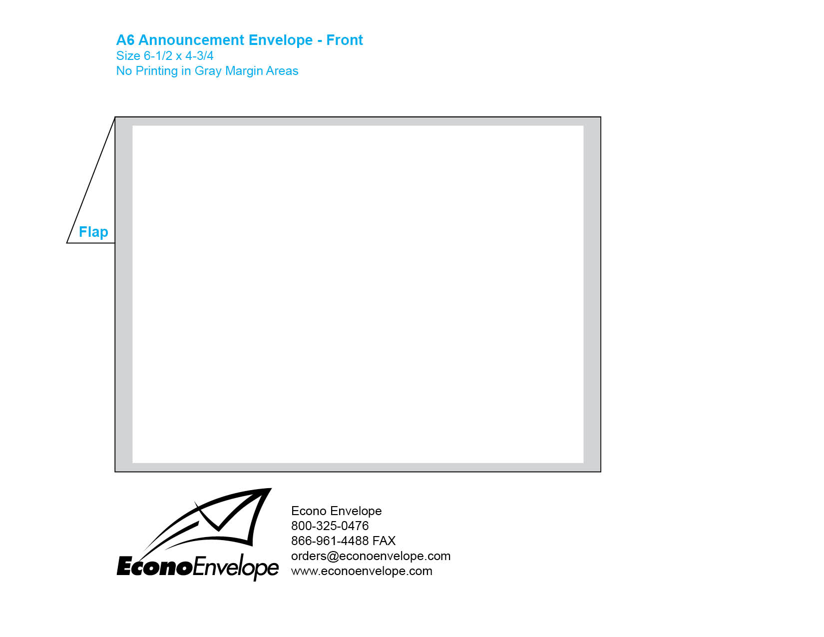 Envelope Template Downloads - A6 envelope printing template